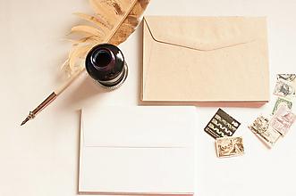 Papier - Obálka recyklovaná / biela - 13285274_