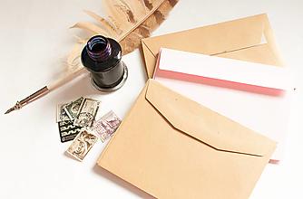 Papier - Obálka recyklovaná/ružová/zlatá - 13285339_