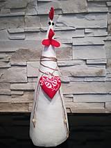 Dekorácie - Dekoračná sliepka - 13283664_