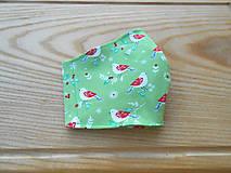 Rúška - Rouška zelená s ptáčky - 13281358_
