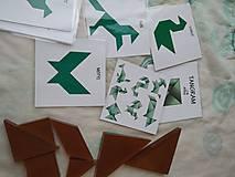 Hračky - Tangram (Zvieratá - kartičky PDF) - 13285591_