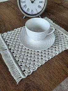 Úžitkový textil - Macrame prestieranie - 13287556_
