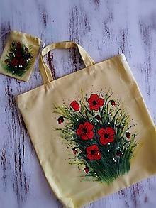 Nákupné tašky - Maky - nákupná taška s taštičkou - 13288802_