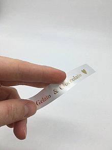 Drobnosti - Saténové štítky šírka 2cm - 13288424_