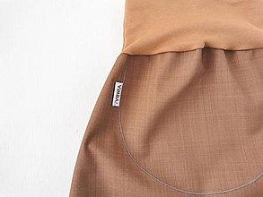 """Detské oblečenie - Softshellky jarné """"nugátová čokoláda"""" - 13287724_"""