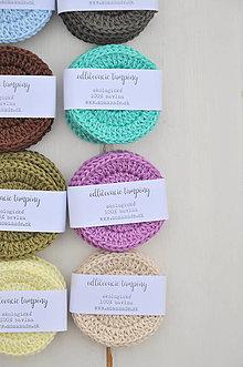 Úžitkový textil - ekologické odličovacie tampóny, 6kusov, rôzne farby - 13289530_