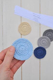 Úžitkový textil - ekologické odličovacie tampóny, 5kusov, rôzne farebné kombinácie - 13289579_