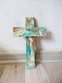 Dekorácie - Maľovaný krížik - 13289840_