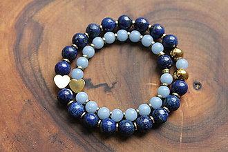 Náramky - MAMA a jej poklad_ LUX Angelit Lapis Lazuli - 13286615_
