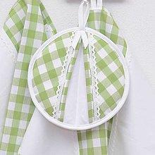 Úžitkový textil - DORA - zelené káro veľké - chňapka ø 18cm - 13287449_