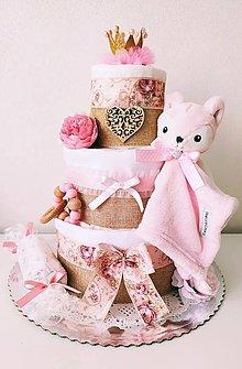 Detské doplnky - Plienková torta pre malú princeznú - 13288652_