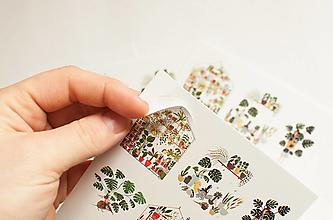 """Papier - Pohľadnica s nálepkami """"skleník"""" - 13287778_"""