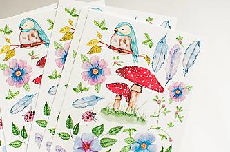 """Papier - Pohľadnica s nálepkami """" Spring"""" - 13287814_"""