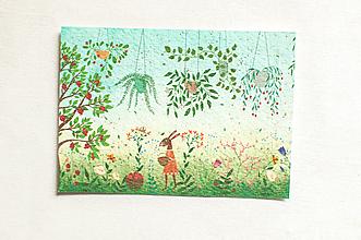 """Papier - Špeciálna kvitnúca pohľadnica """"Kamilky"""" - 13288010_"""