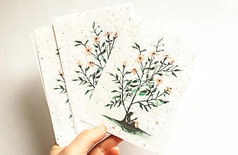 """Papier - Špeciálna kvitnúca pohľadnica """"pod kvietkom"""" - 13288137_"""