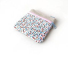 Taštičky - Taštička s kapsičkou Malé farebné bodky - 13289899_