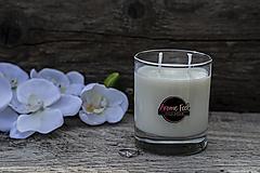 Svietidlá a sviečky - Aromatická sójová sviečka so strieborným prsteňom (Kokos - Coco dream) - 13287519_