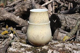 Nádoby - Sada porcelánových pohárov Natural - 13287688_