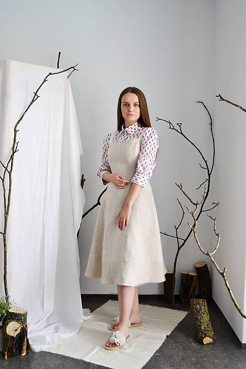 Korzetové upcy  šaty s áčkovou sukňou z konope