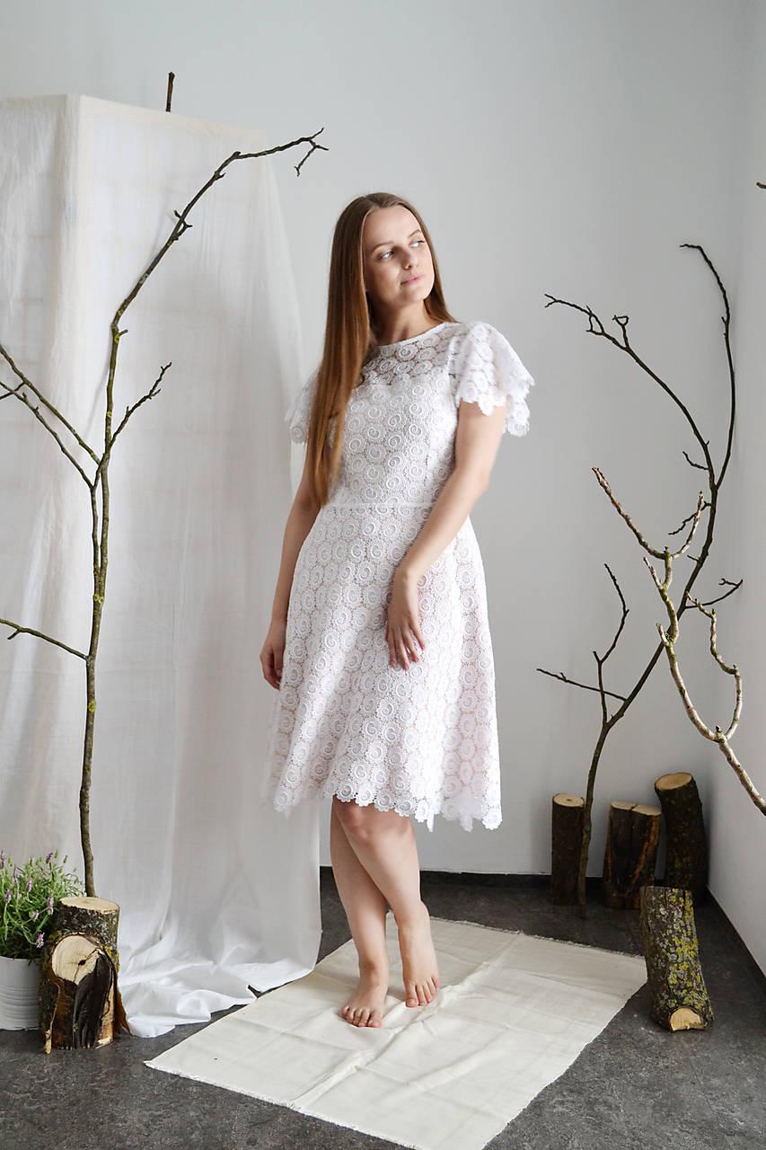 Upcyklované (svadobné) mini šaty z vintage krajky