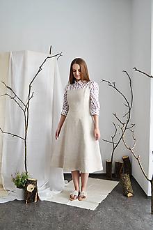 Šaty - Korzetové upcy  šaty s áčkovou sukňou z konope - 13286000_
