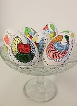 Dekorácie - husacie vajíčka / vzor farebný vtáčik - 13288537_