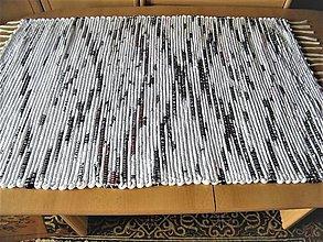 Úžitkový textil - Tkaný koberec bielo-čierny-červený - 13287335_
