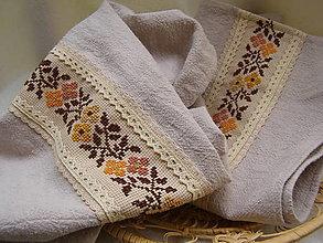 Úžitkový textil - kuchynský set vyšívaný - 13290956_