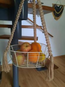 Nádoby - Macrame miska na ovocie - 13292098_