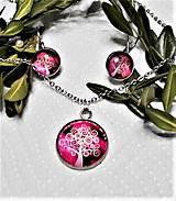 Sady šperkov - Chirurgická oceľ- stromy (Fuchsiová) - 13291185_