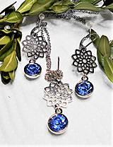 Sady šperkov - Chirurgická oceľ- brúsené sklo - 13291289_