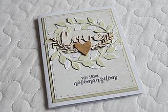 Papiernictvo - Veľa šťastia novomanželom 5 - 13290450_