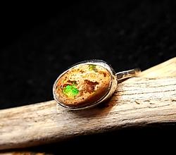 Prstene - Strieborný Prsteň s Mexickým Boulder Opálom - 13290611_