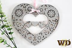 Dekorácie - Srdce na zavesenie - 13292738_