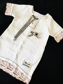Detské oblečenie - Ľanová košieľka - 13290483_