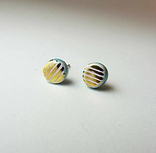 Náušnice - TANA hand made jewellery - keramika/zlato - 13293370_
