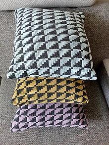Úžitkový textil - Pletené vankúše - 13290239_