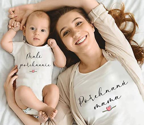 Detské oblečenie - Súprava mama a ja.. Požehnaná mama - 13293808_