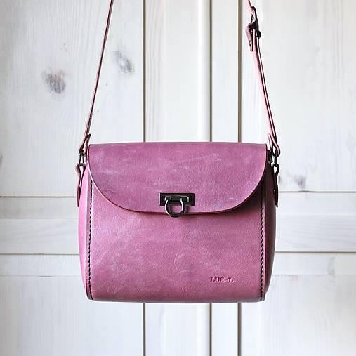 Kabelky - Kožená kabelka Violet messenger - 13290262_