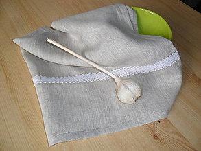 Úžitkový textil - Ľanová utierka - 13291236_