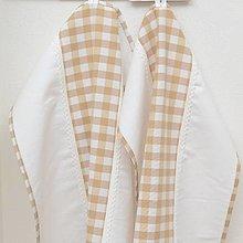 Úžitkový textil - DORA - bežové káro veľké - utierka 60x40 - 13290838_