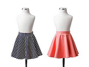 Detské oblečenie - Obojstranná sukňa - kruhová - 13292681_