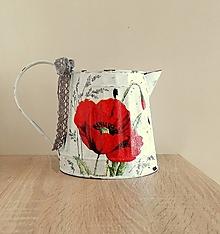 Nádoby - dekoračný vintage džbán vlčí mak - 13291332_