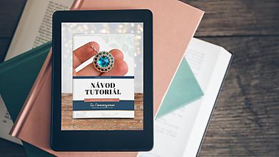 Návody a literatúra - PDF Online návod na šité náušnice so Swarovski rivolkou - 13292461_
