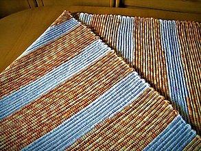 Úžitkový textil - Tkaný koberec bielo-oranžový - 13290372_