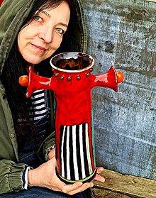 Nádoby - Váza London /fire hydrant/ - 13296051_