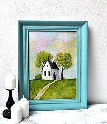 Obrazy - Maľovaný obraz - Niekde...kde je pokoj a ticho - 13295590_