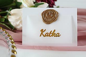 Papiernictvo - Svadobné menovky s pečaťou - 13294815_