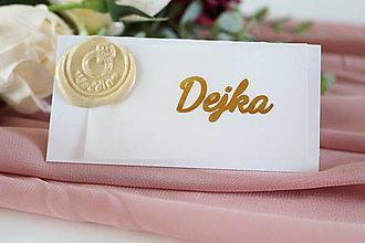 Papiernictvo - Svadobné menovky s pečaťou - 13294842_