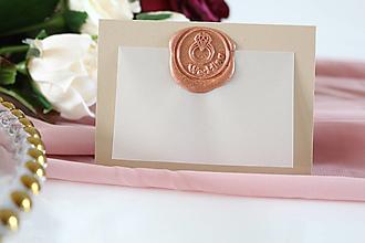 Papiernictvo - Svadobné menovky s pečaťou - 13294855_